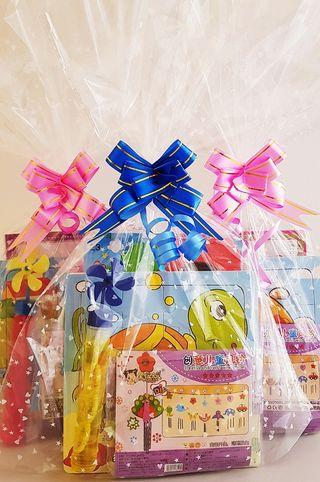 Goodie bag, goody bag, windchime, puzzle, bubbles, birthday pack