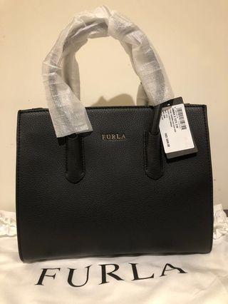 New Furla Handbag 全新黑色Furla 氣質OL上班手袋