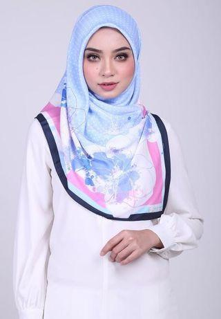 SQ8 (To Let Go New) Ariani Bawal Novelty Square Series 190 Scarf