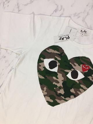 Cdg play camouflage T-shirt