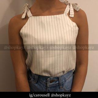 (INSTOCK) Pinstriped Top