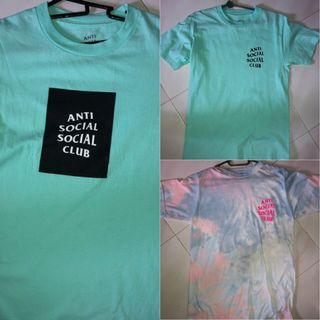 Authentic ASSC Anti Social Social Club Tee Shirts