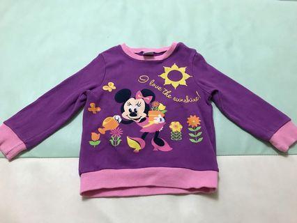 正版Disney Baby Minnie簿身米奇衛衣 (90碼)