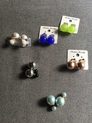 Globe ear rings