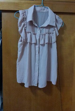 OL 雪紡 上衣 T-shirt Top 包郵