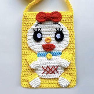 Doraemon Dorami Handmade Crochet Bag
