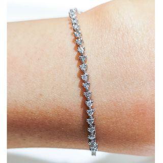 Three Prong Pave Diamond Bracelet