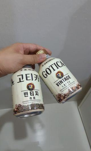 고티카 Korea Coca Cola Georgia Gotica Vintage Latte (Perfect Clean Empty Bottle)