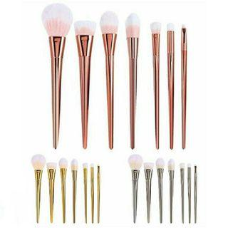 🚚 7Pcs Rose Gold Brush Brushes set