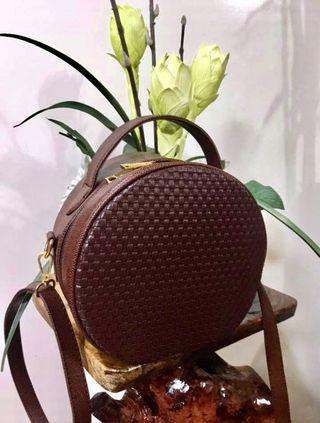 ZARA Inspired Round Leather Sling Bag