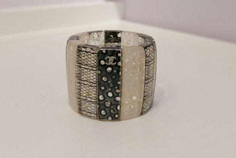 Chanel resin cuff lace