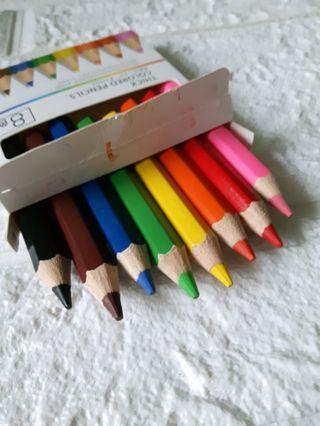 粗桿色鉛筆 8色