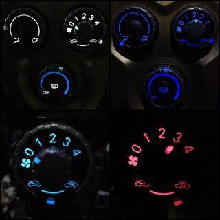 FLASHDEAL! Toyota Vios NCP93 Aircon Gear Panel Light Change