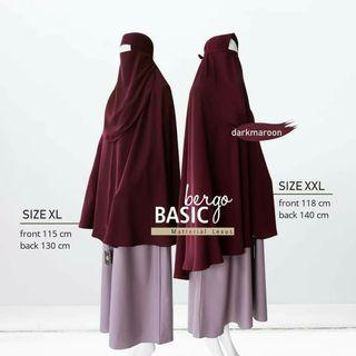 Jilbab Khimar long wide