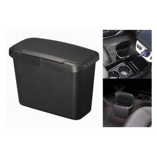 🚚 權世界@汽車用品 日本CARMATE 車用中控台邊 吊掛式垃圾桶 收納置物盒 黑色 CZ488