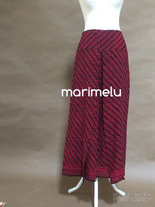 Crimson silhouette batik pants