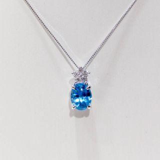 Star Diamond Blue Topaz Pendant