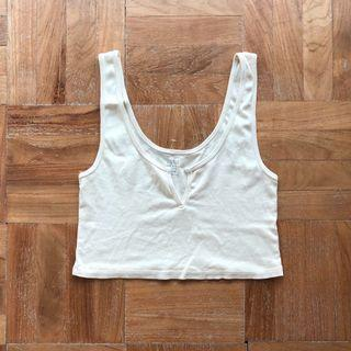 Brandy Melville Trisha Tank in Pastel Yellow