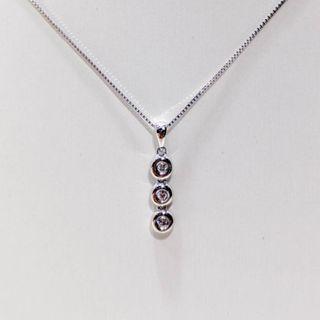 Triple Tennis Diamond Pendant