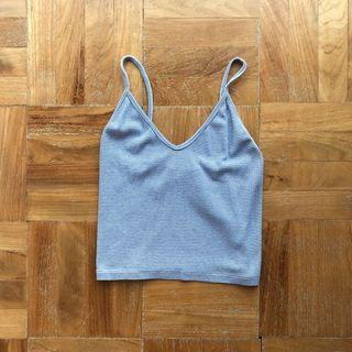 Brandy Melville Ribbed Joanne Tank in Blue