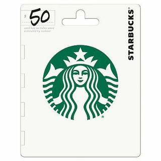 2 x $50 for $95 Starbucks Gift Card