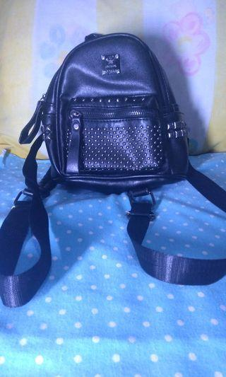#Bapau Korean Mini Backpack in Black