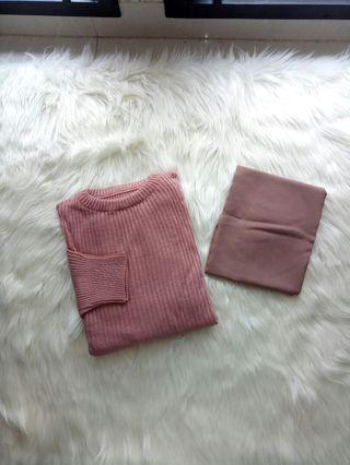 Boxy sweater + hijab