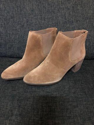 Anne Klein Suede Ankle Boots