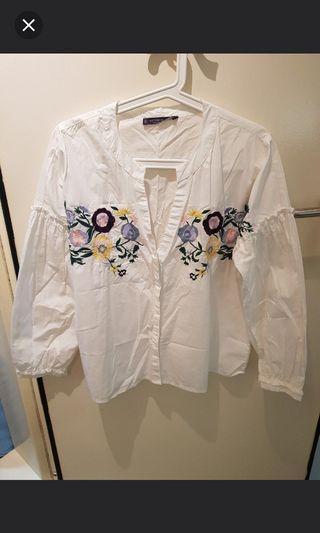 Mango Embroidery Blouse