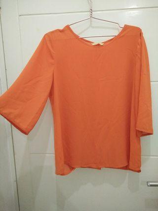 Sheer Orange Blouse