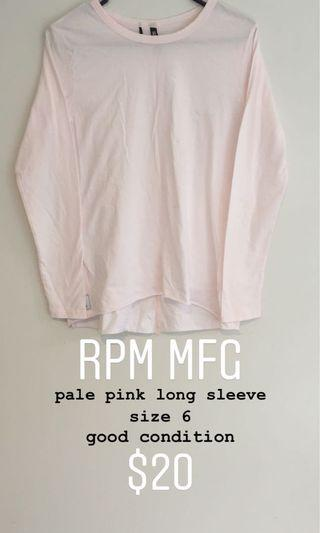 RPM MFG light pink long sleeve