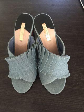 High heels denim. Uk 37. Very good condition