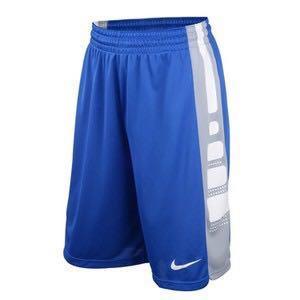 Nike Elite籃球褲 L 寶藍色