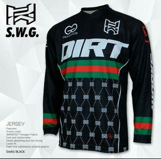 Dirtworks SWAG Black MTB Jersey