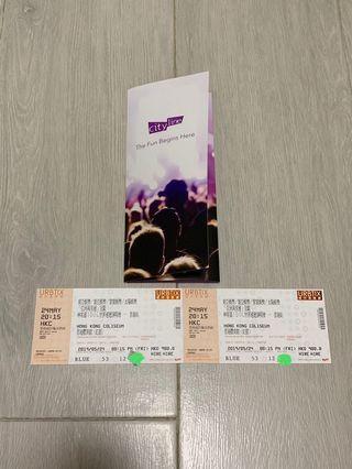 林宥嘉 演唱會 5月24 $980門票兩張