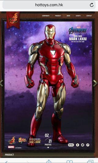 收hot toys iron man mark85 mk85 1:6 訂單 +800