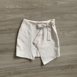 TEM Ribbon Tie Cross Flap Skirt
