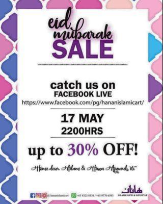 🚚 Ramadhan / Syawal Sale On FB Live 17 May 2200hrs