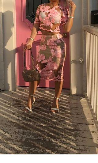 LUXURIOUS 2pc DRESS IN PINK