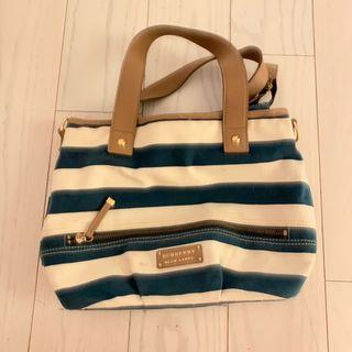 BURBERRY BLUE LABEL striped handbag 手袋