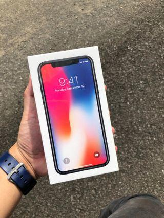 NEW IPHONE X 256GB GREY SEALBOX MYSET