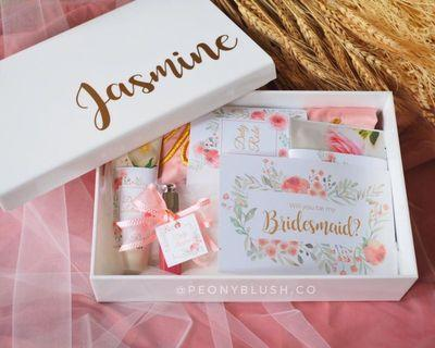 Bride Bridesmaid Gift Box - White