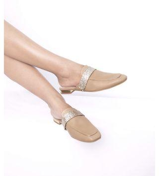 Nagita Orchid Nude Mules with Lilian strap