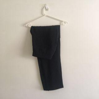 Black Pants with White Stripes