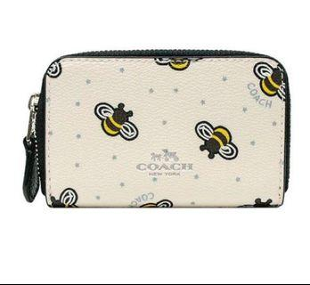 🚚 Ready stock ! Coach Bee Print coin pouch