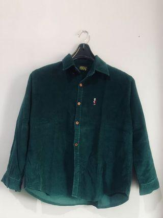 Boyfriend Shirt Green Army XO