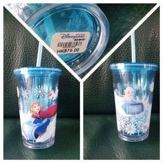 全新 迪士尼 Disneyland Frozen 飲管杯 水樽