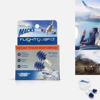 Mack's Flightguard Airplane Pressure Relief Earplugs — Washable Reusable Soft Flanged Ear plugs For Flying Discomfort Mountain Driving Plane Travel Traveling Relieve Reduce Air Clogged Ears Popping Pain Noise Reduction Earplanes 飞机耳塞