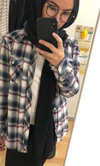Boyfriend Checkered Shirt