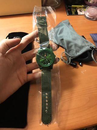 Swiss army 深綠色手錶
